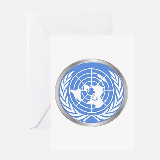 United Nations Emblem Greeting Cards