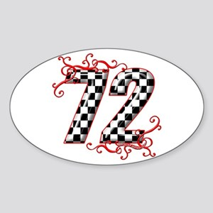 RaceFashion.com 72 Oval Sticker