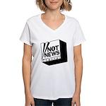 Not News Channel Women's V-Neck T-Shirt