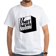 Not News Channel White T-Shirt