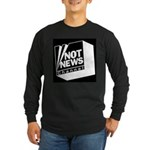 Not News Channel Long Sleeve Dark T-Shirt