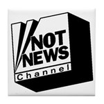 Not News Channel Tile Coaster