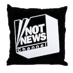Not News Channel Throw Pillow