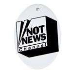 Not News Channel Oval Ornament
