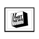 Not News Channel Framed Panel Print