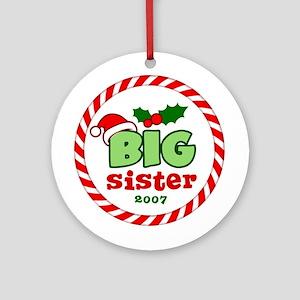 Big Sister Festive Christmas Ornament (Round)