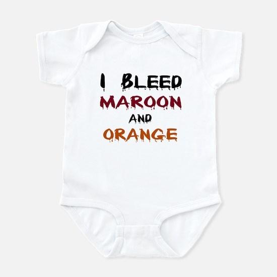 I Bleed Maroon and Orange Infant Bodysuit