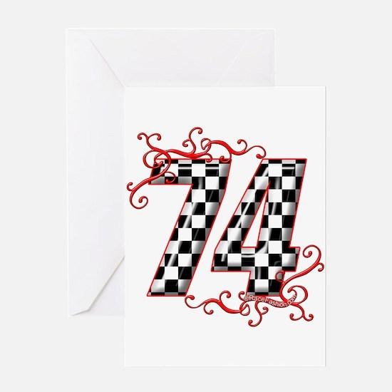 RaceFashion.com 74 Greeting Card