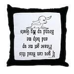 Goat Roundup Throw Pillow