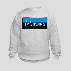 I Love Birding Kids Sweatshirt