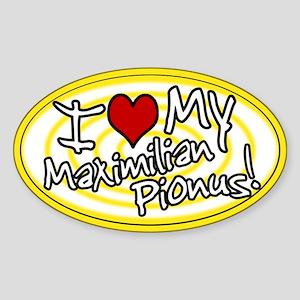 Hypno I Love My Maxi Pionus Oval Sticker Ylw