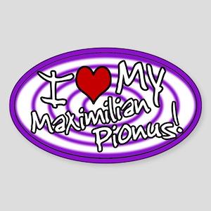 Hypno I Love My Maxi Pionus Oval Sticker Purp