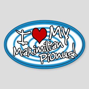 Hypno I Love My Maxi Pionus Oval Sticker Blue