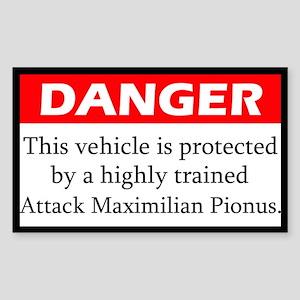 Danger Attack Maximilian Pionus Sticker