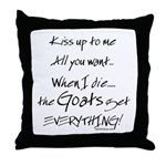 Goats Get Everything Throw Pillow