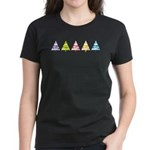 Retro Christmas Women's Dark T-Shirt