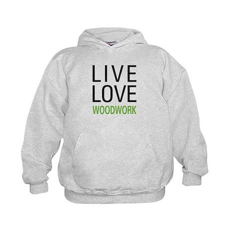 Live Love Woodwork Kids Hoodie