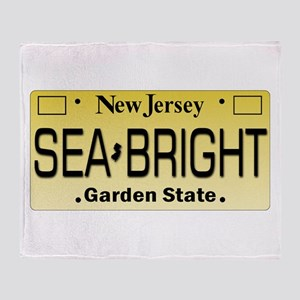 Sea Bright NJ Tag Gifts Throw Blanket