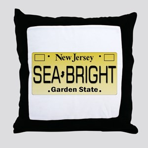 Sea Bright NJ Tag Gifts Throw Pillow