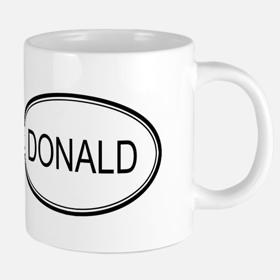 Donald Oval Design Mugs