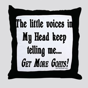 Get More Goats Throw Pillow