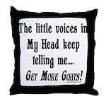 Get More Goats Throw Pillow