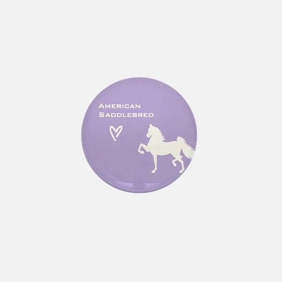 American Saddlebred Mini Button