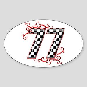 RaceFashion.com 77 Oval Sticker