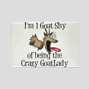 Crazy GoatLAdy3 Rectangle Magnet