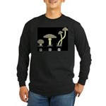 Mushrooms Long Sleeve Dark T-Shirt