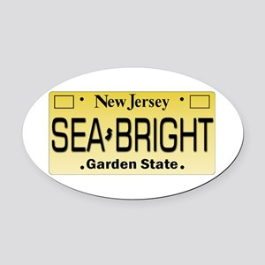 Sea Bright NJ Tag Gifts Oval Car Magnet