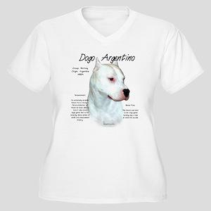 Dogo Argentino Women's Plus Size V-Neck T-Shirt