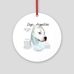 Dogo Argentino Round Ornament
