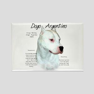 Dogo Argentino Rectangle Magnet