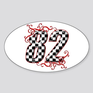 RaceFashion.com 82 Oval Sticker