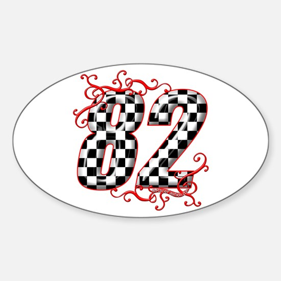 RaceFashion.com 82 Oval Decal
