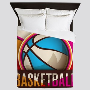 Basketball Sport Ball Game Cool Queen Duvet