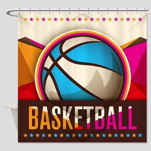 Basketball Sport Ball Game Cool Shower Curtain