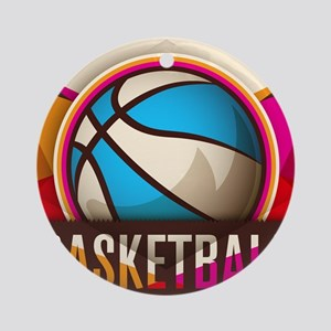 Basketball Sport Ball Game Cool Round Ornament