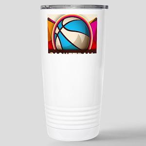 Basketball Sport Ball G Stainless Steel Travel Mug