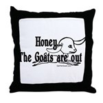 Goats are Out Throw Pillow