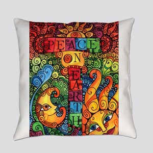 Peace on Earth Sun and Moon Everyday Pillow