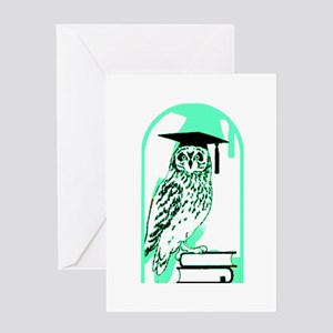 Smart Owl 4 Greeting Card