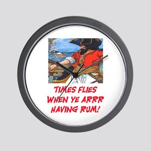 TIME FLIES WHEN YE ARR HAVING RUM Wall Clock