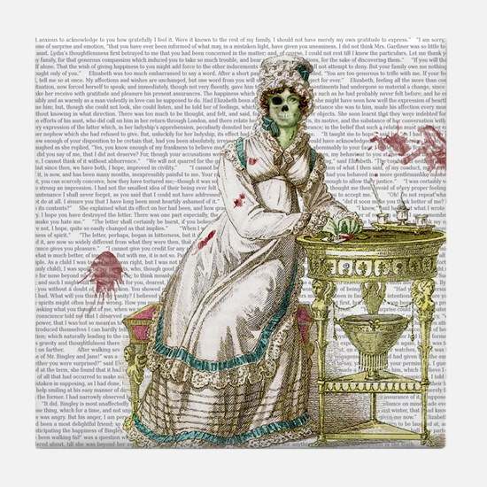 Seated Zombie Lady Tile Coaster