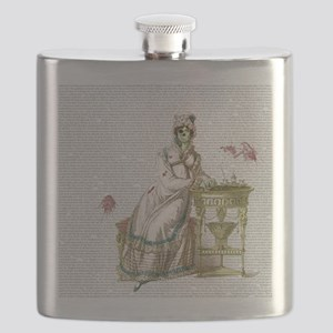 Seated Zombie Lady Flask