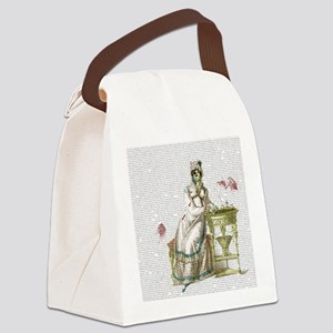 Seated Zombie Lady Canvas Lunch Bag