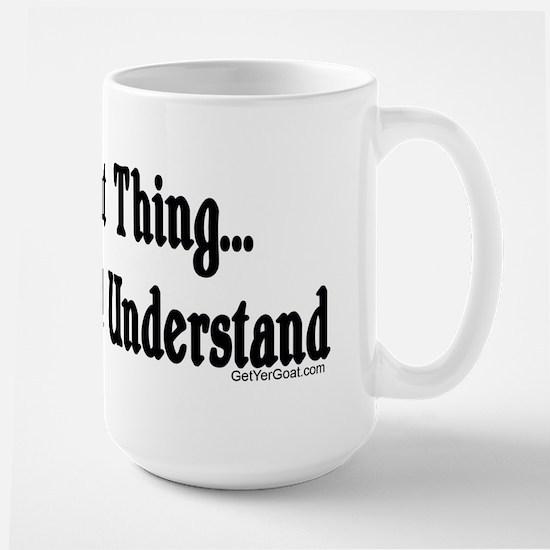 A Goat Thing Large Mug