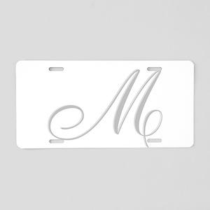 Elegant Monogrammed Initial Aluminum License Plate