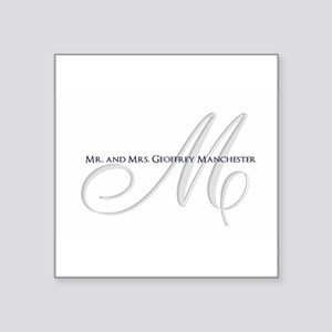 Elegant Name and Monogram Sticker